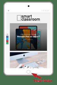 Mit dem Sperren-Button und dem Home-Button kannst du den Bildschirm vom iPad oder iPhone aufnehmen.