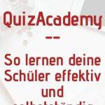 QuizAcademy ist eine Lernplattform für Schüler, Lehrer und Schule, um Quizze und Karteikarten zu erstellen und effektiv und selbstständig zu lernen!