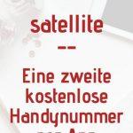 Satellite ist eine App, mit der du eine kostenlose zweite Handynummer erhältst. Diese kannst du an Schüler, Eltern und Kollegen herausgeben.